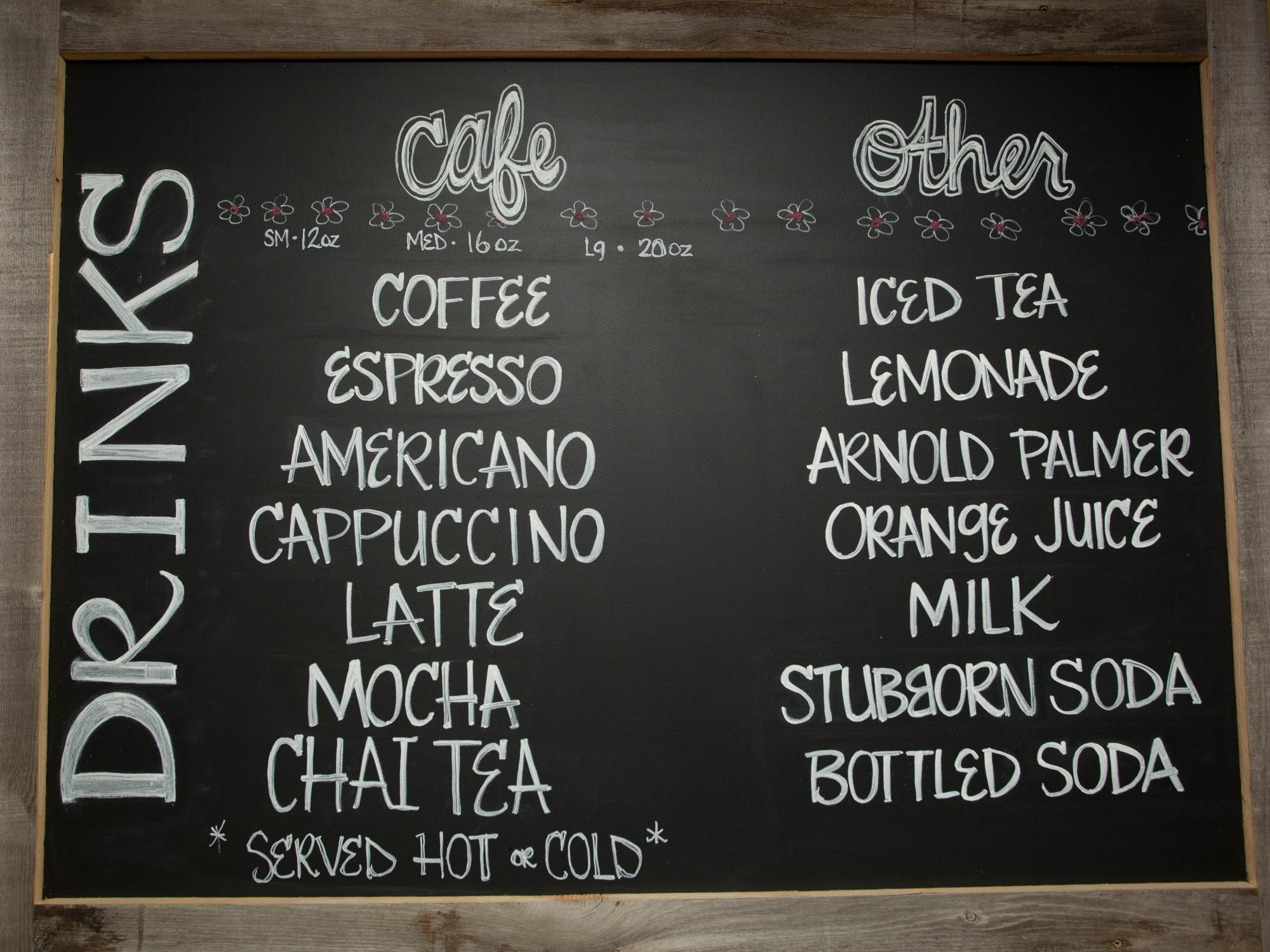 Angels Bakery And Cafe Menu